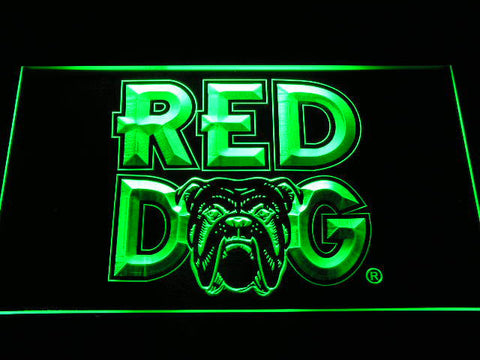 Image of Red Dog LED Neon Sign - Green - SafeSpecial