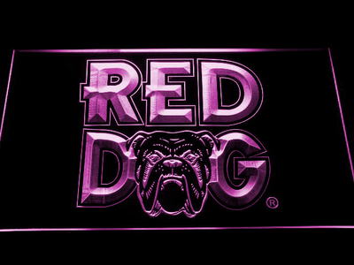 Red Dog LED Neon Sign - Purple - SafeSpecial