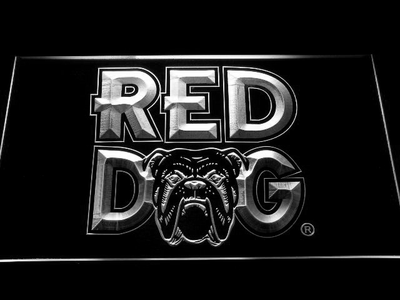 Red Dog LED Neon Sign - White - SafeSpecial