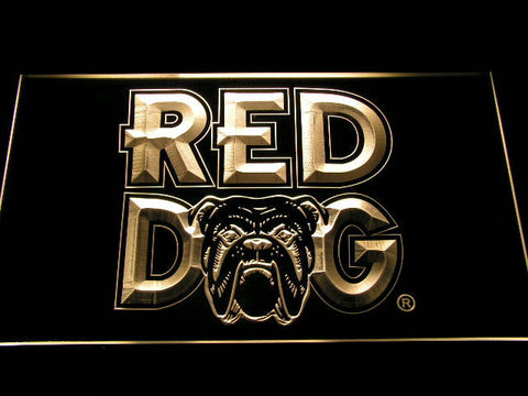 Image of Red Dog LED Neon Sign - Yellow - SafeSpecial