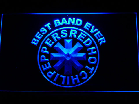 Red Hot Chili Peppers Best Band Ever LED Neon Sign - Blue - SafeSpecial