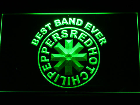 Red Hot Chili Peppers Best Band Ever LED Neon Sign - Green - SafeSpecial