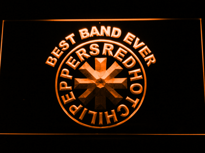 Red Hot Chili Peppers Best Band Ever LED Neon Sign - Orange - SafeSpecial