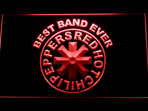 Red Hot Chili Peppers Best Band Ever LED Neon Sign - Red - SafeSpecial