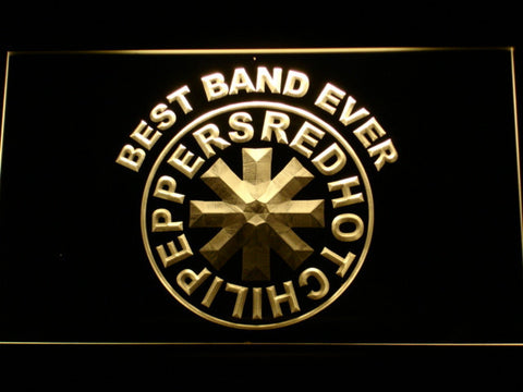 Red Hot Chili Peppers Best Band Ever LED Neon Sign - Yellow - SafeSpecial