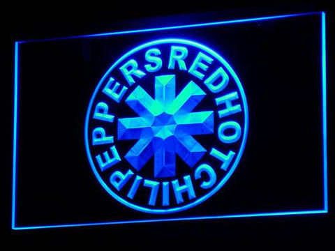 Red Hot Chili Peppers LED Neon Sign - Blue - SafeSpecial