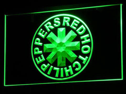 Red Hot Chili Peppers LED Neon Sign - Green - SafeSpecial