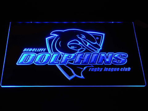 Redcliffe Dolphins LED Neon Sign - Blue - SafeSpecial