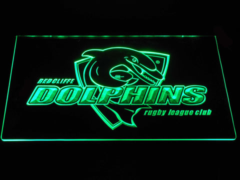 Redcliffe Dolphins LED Neon Sign - Green - SafeSpecial
