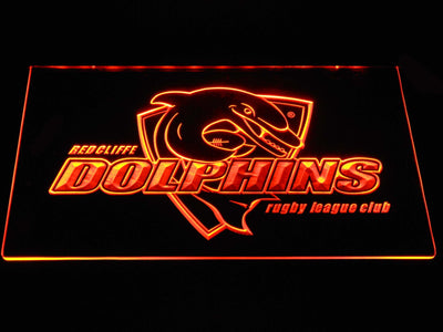 Redcliffe Dolphins LED Neon Sign - Orange - SafeSpecial