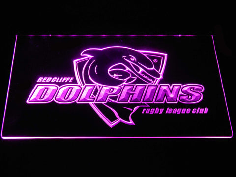 Image of Redcliffe Dolphins LED Neon Sign - Purple - SafeSpecial