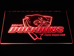Redcliffe Dolphins LED Neon Sign - Red - SafeSpecial