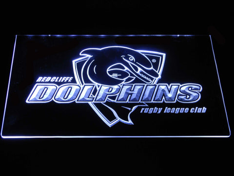 Redcliffe Dolphins LED Neon Sign - White - SafeSpecial