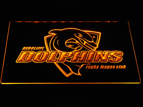 Redcliffe Dolphins LED Neon Sign - Yellow - SafeSpecial