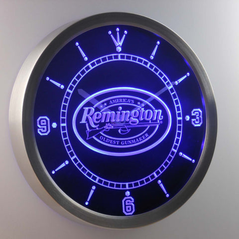 Image of Remington LED Neon Wall Clock - Blue - SafeSpecial