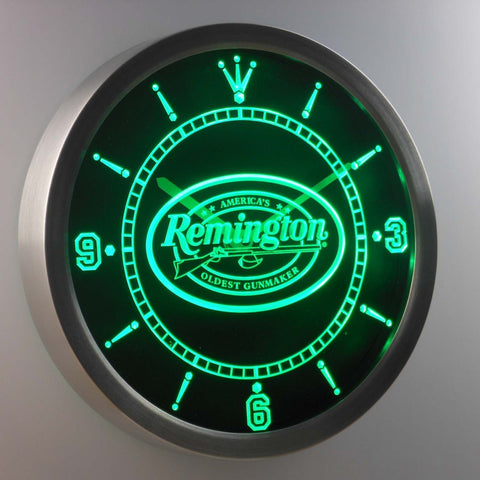 Image of Remington LED Neon Wall Clock - Green - SafeSpecial