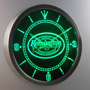 Remington LED Neon Wall Clock - Green - SafeSpecial