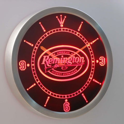 Image of Remington LED Neon Wall Clock - Red - SafeSpecial