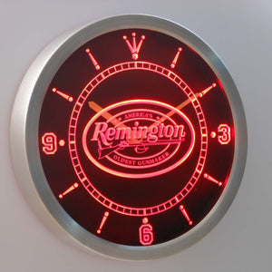 Remington LED Neon Wall Clock - Red - SafeSpecial