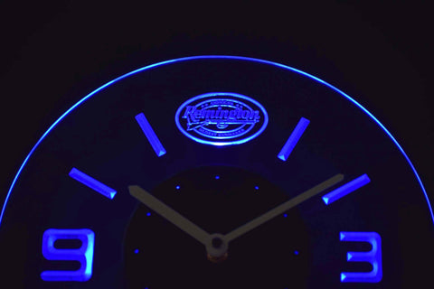 Image of Remington Modern LED Neon Wall Clock - Blue - SafeSpecial