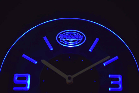Remington Modern LED Neon Wall Clock - Blue - SafeSpecial