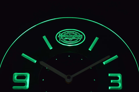 Image of Remington Modern LED Neon Wall Clock - Green - SafeSpecial