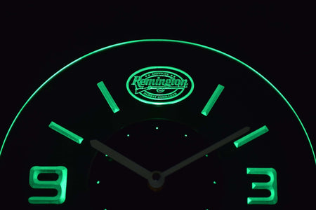 Remington Modern LED Neon Wall Clock - Green - SafeSpecial