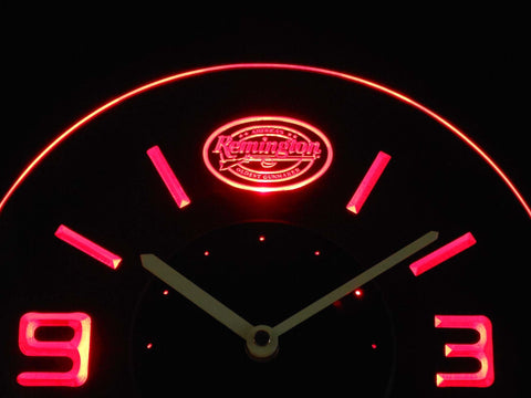 Image of Remington Modern LED Neon Wall Clock - Red - SafeSpecial
