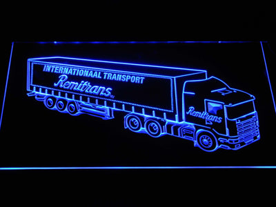 Remitrans Truck LED Neon Sign - Blue - SafeSpecial