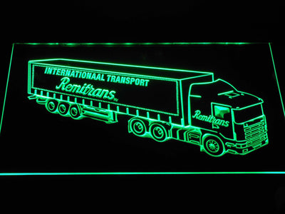 Remitrans Truck LED Neon Sign - Green - SafeSpecial