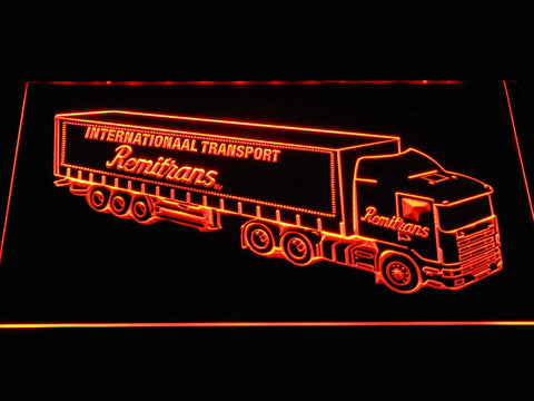 Image of Remitrans Truck LED Neon Sign - Orange - SafeSpecial