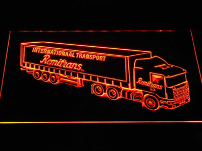 Remitrans Truck LED Neon Sign - Orange - SafeSpecial