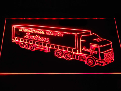 Image of Remitrans Truck LED Neon Sign - Red - SafeSpecial