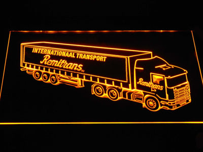 Remitrans Truck LED Neon Sign - Yellow - SafeSpecial