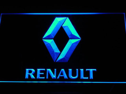 Image of Renault LED Neon Sign - Blue - SafeSpecial