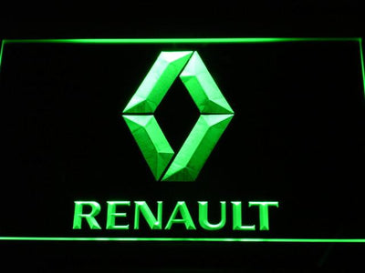 Renault LED Neon Sign - Green - SafeSpecial