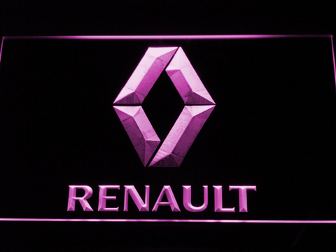 Image of Renault LED Neon Sign - Purple - SafeSpecial