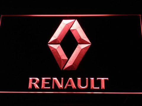 Image of Renault LED Neon Sign - Red - SafeSpecial