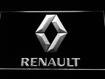 Renault LED Neon Sign - White - SafeSpecial