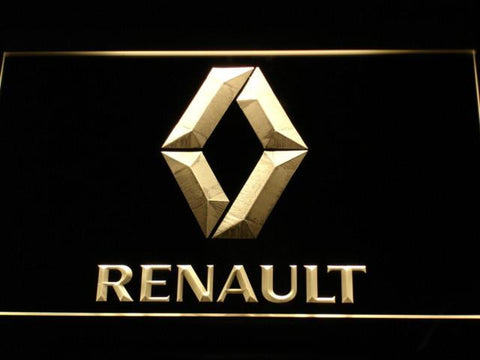 Image of Renault LED Neon Sign - Yellow - SafeSpecial