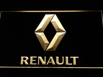 Renault LED Neon Sign - Yellow - SafeSpecial