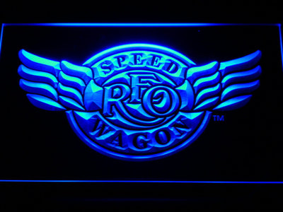 REO Speedwagon LED Neon Sign - Blue - SafeSpecial