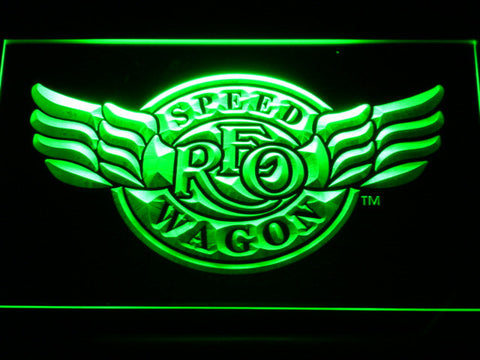 REO Speedwagon LED Neon Sign - Green - SafeSpecial