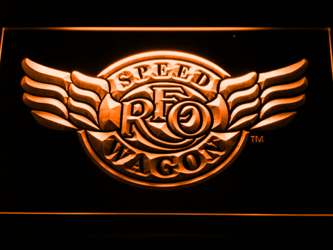 Image of REO Speedwagon LED Neon Sign - Orange - SafeSpecial