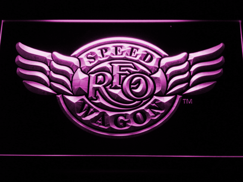 Image of REO Speedwagon LED Neon Sign - Purple - SafeSpecial