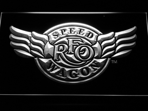 Image of REO Speedwagon LED Neon Sign - White - SafeSpecial