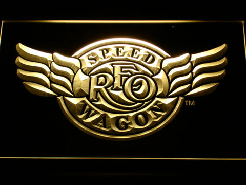Image of REO Speedwagon LED Neon Sign - Yellow - SafeSpecial