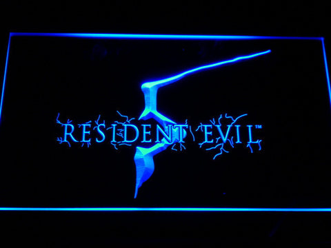 Image of Resident Evil 5 LED Neon Sign - Blue - SafeSpecial