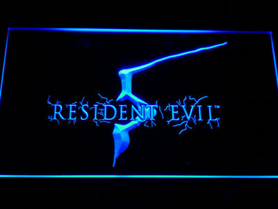 Resident Evil 5 LED Neon Sign - Blue - SafeSpecial