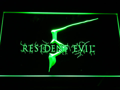 Image of Resident Evil 5 LED Neon Sign - Green - SafeSpecial